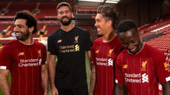 Jersey Liverpool untuk musim 2019/2020.