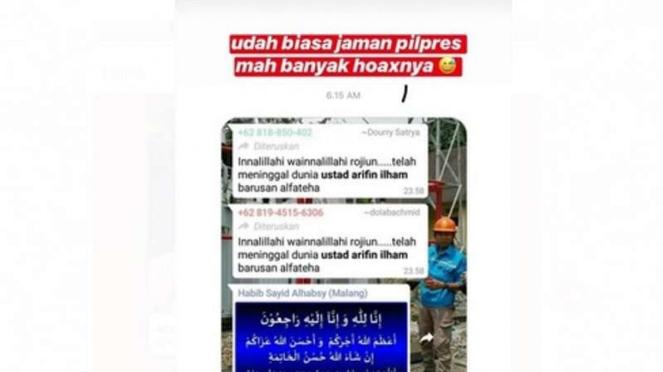 Arifin Ilham dikabarkan meninggal