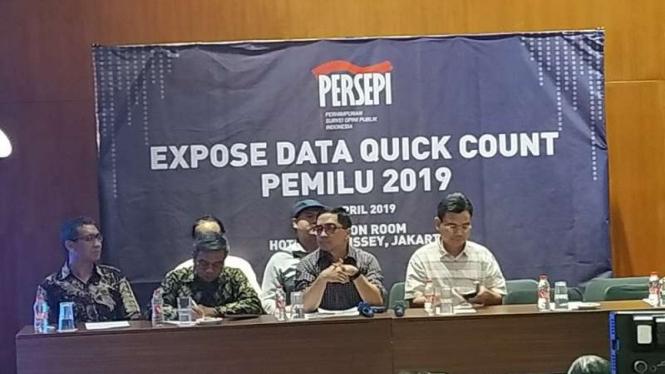 Perhimpunan Survei Opinik Publik Indonesia (Persepi) ekspose data quick count