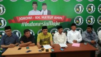 Jaringan Kiai-Santri Nasional merespons pernyataan Amien Rais perihal klaim kemenangan Prabowo Subianto-Sandiaga Uno di Surabaya, Jawa Timur, pada Sabtu, 20 April 2019.