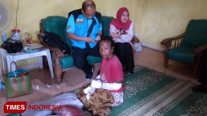 ODGJ sedang menjalani perawatan (FOTO: Cas/TIMES Indonesia)