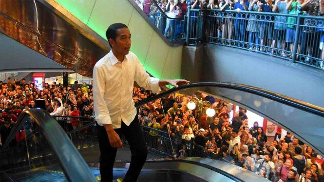 Presiden Joko Widodo di Mall Grand Indonesia