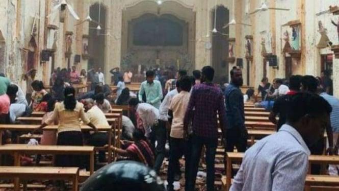 Ledakan di suatu gereja di Sri Lanka saat Minggu Paskah 2019. Lebih dari 200 orang tewas akibat rentetan bom teror di tiga kota di Sri Lanka.