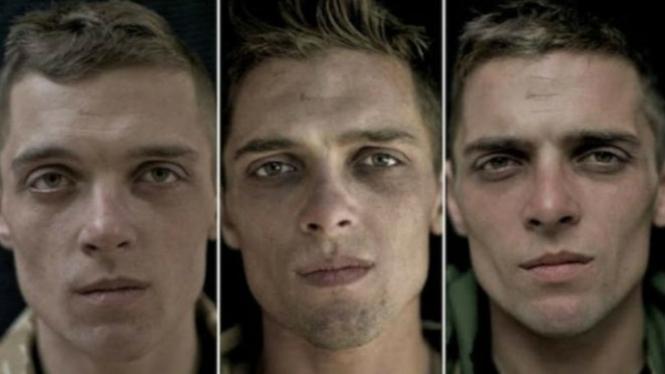 Foto tentara sebelum, selama dan setelah perang.