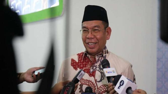 Direktur Bina Haji Kemenag RI Khoirizi H. Dasir di Asrama Haji Pondok Gede
