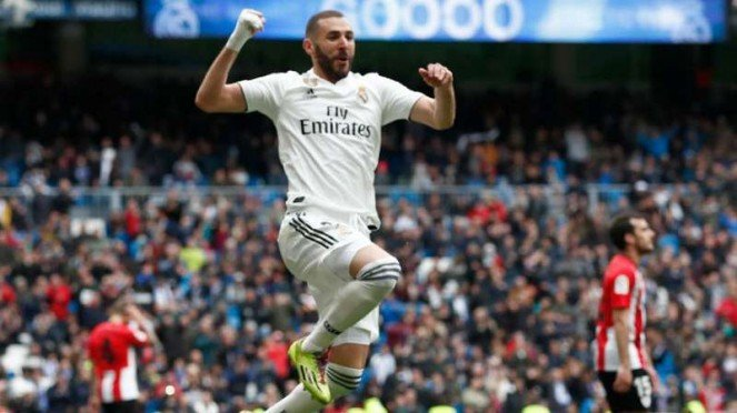 Striker Real Madrid, Karim Benzema.