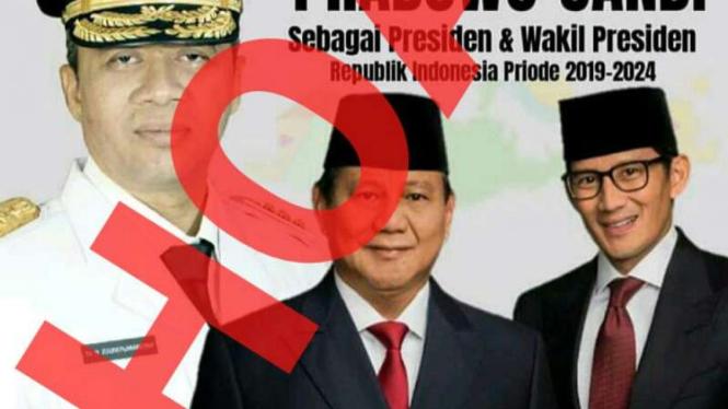 Hoax poster ucapan selamat Gubernur NTB atas terpilihnya Prabowo-Subianto