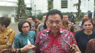 Gubernur Sulawesi Utara Olly Dondokambey di Kompleks Istana Kepresidenan.