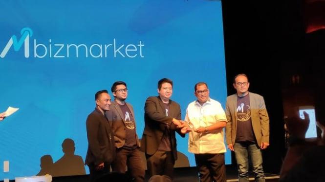 Peluncuran Mbizmarket, di Plaza Senayan, Jakarta