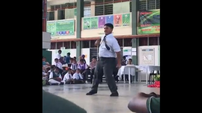 Siswa tirukan dance Blackpink