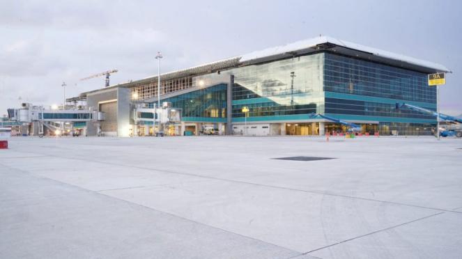 Bandara New Yogyakarta International Airport di Kulon Progo, DIY, 21 April 2019.