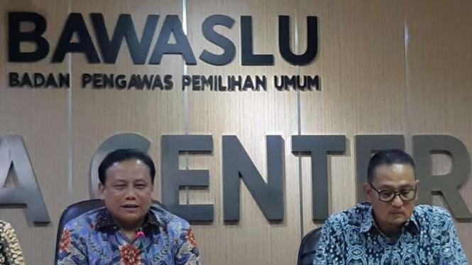 Konferensi pers Bawaslu dan Kominfo soal Pemilu 2019