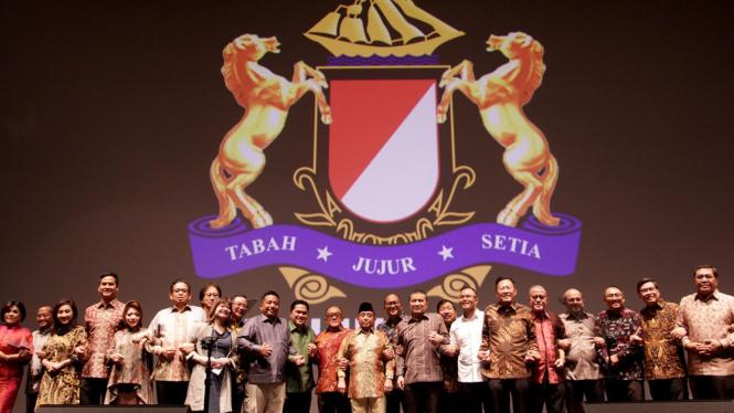 Ketua Kadin Indonesia Rosan P. Roeslani, saat menghadiri Malam Rembuk Pengusaha Indonesia Merajut Persatuan Untuk Indonesia Damai di Jakarta, Selasa 23 April 2019.