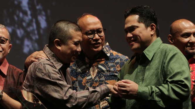 Malam Rembuk Pengusaha Indonesia Pasca Pemilu, Erwin Aksa, Rosan P. Roeslani, Erick Thohir