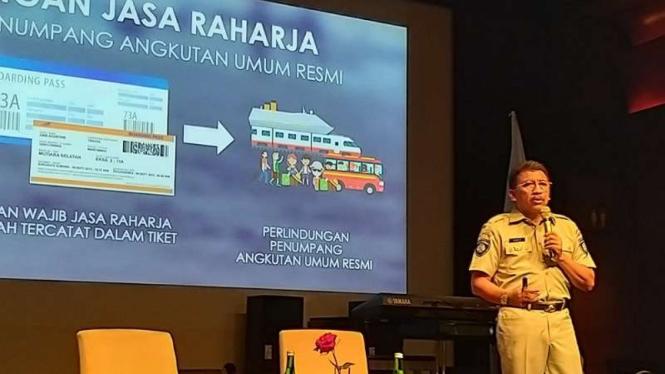 Direktur Utama PT Jasa Raharja (Persero) Budi Rahardjo Slamet