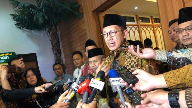 Menteri Agama Lukman Hakim Saefuddin membuka pembekalan petugas haji