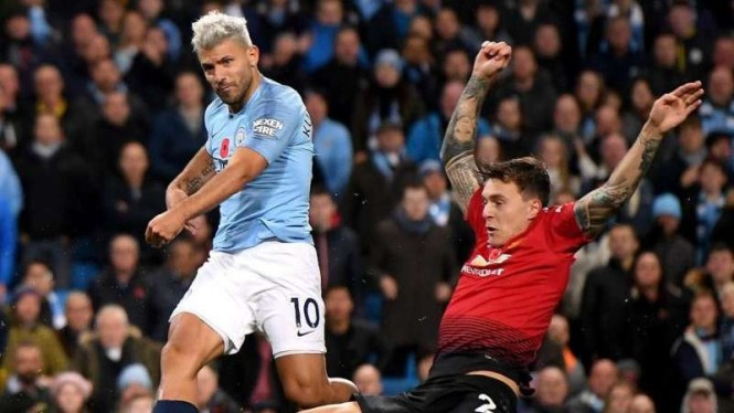 Pertandingan Premier League antara Manchester City vs Manchester United