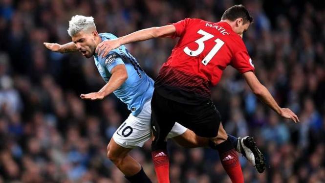 Laga Premier League antara Manchester City melawan Manchester United