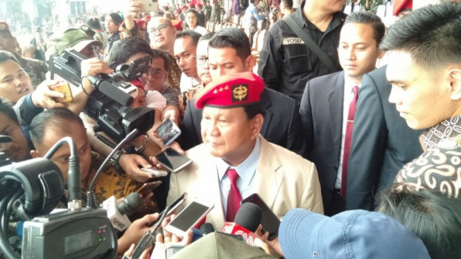 Prabowo Subianto hadiri HUT Kopassus.
