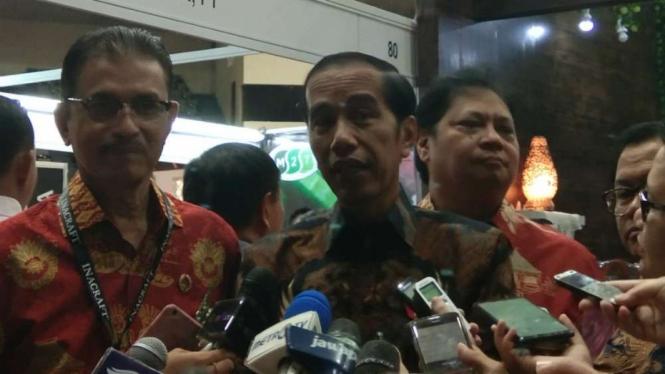Presiden Joko Widodo di Jakarta Convention Center.