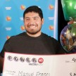 Manuel Franco of West Allis, Wisconsin, winner of second-highest Powerball lottery in history, attends a news conference at the Wisconsin Department of Revenue, on Tuesday, April 23, 2019.