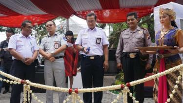 Direktur Utama PT KAI, Edi Sukmoro di Solo.