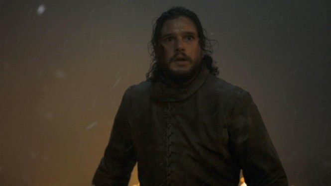 Jon Snow (Kit Harington) dalam Game of Thrones Season 8.