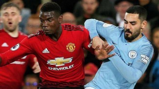 Laga Premier League antara Manchester United kontra Manchester City