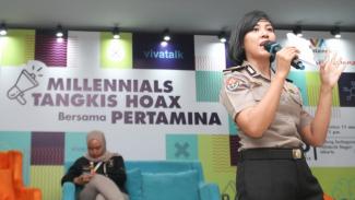 AKP Ganawati Candra Dini, Millennials Tangkis Hoax with Pertamina