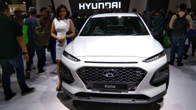 Hyundai Kona dipamerkan di IIMS 2019