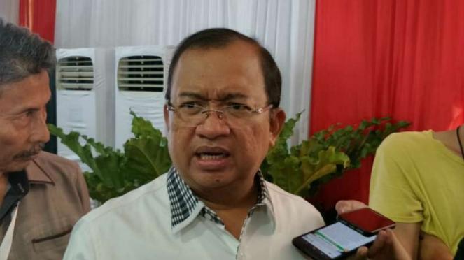 Wakil Ketua Umum Badan Pemenangan Nasional Prabowo-Sandi, Priyo Budi Santoso, usai beraudiensi dengan petinggi KPU di Jakarta, Kamis, 25 April 2019.