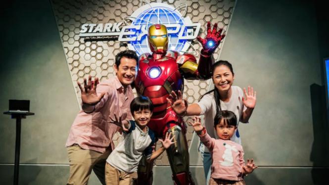 Keseruan Marvel di Hong Kong Disneyland.