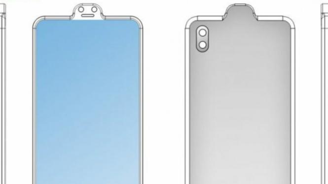 Desain ponsel Xiaomi poni terbalik