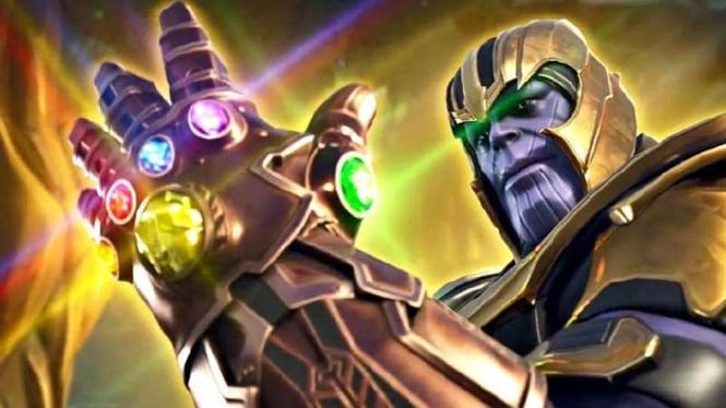 Thanos dengan infinity stones.