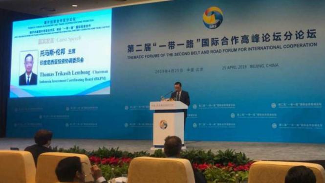 Kepala BKPM, Thomas Trikasih Lembong di Beijing, China.