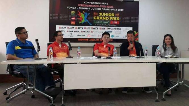 Jumpa pers  Pembangunan Jaya Raya Yonex Sunrise   Junior Grand Prix 2019.