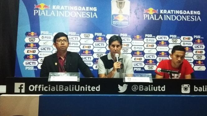 Konferensi pers Bali United usai melawan Persija Jakarta