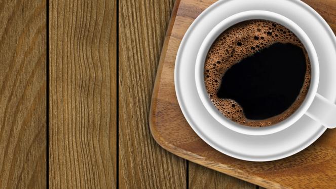 Ilustrasi secangkir kopi.
