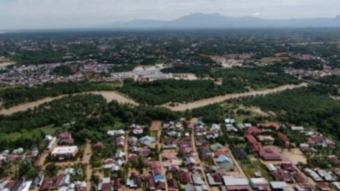 Banjir landa Bengkulu, Minggu, 28 April 2019.