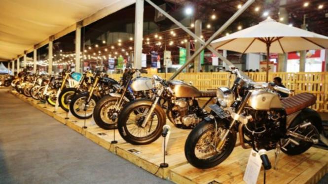 Motor custom di Indonesian Custombike Expo & Championship di IIMS 2019