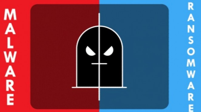 Perbedaan Malware dan Ransomware.