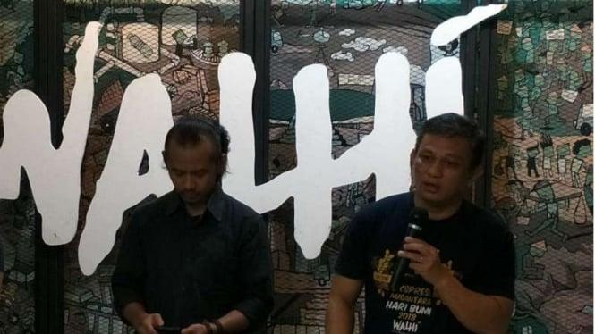 Walhi menggelar keterangan pers terkait hubungan Indonesia - China melalui skema One Belt One Road Initiative atau OBOR.