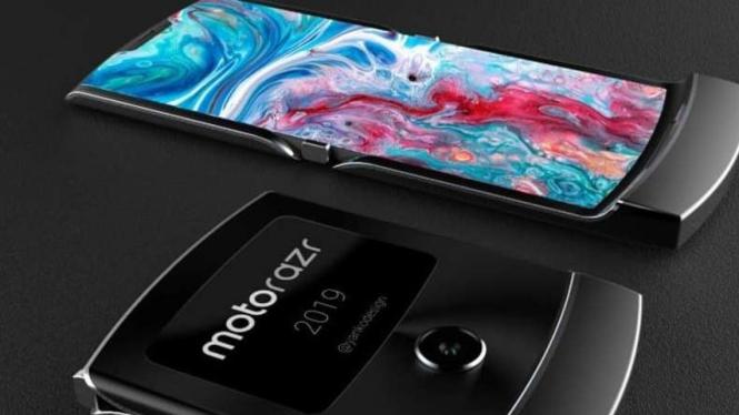 Bocoranocoran smartphone layar lipat Morotola