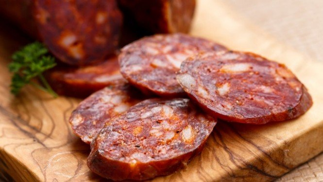 Chorizo, makanan dari Spanyol.