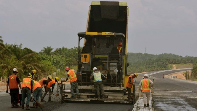 Progres Proyek Jalan Tol Pekanbaru-Dumai