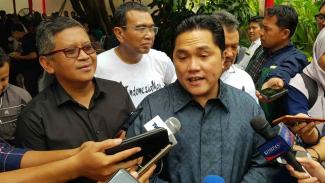 Ketua TKN Erick Thohir bersama elite TKN