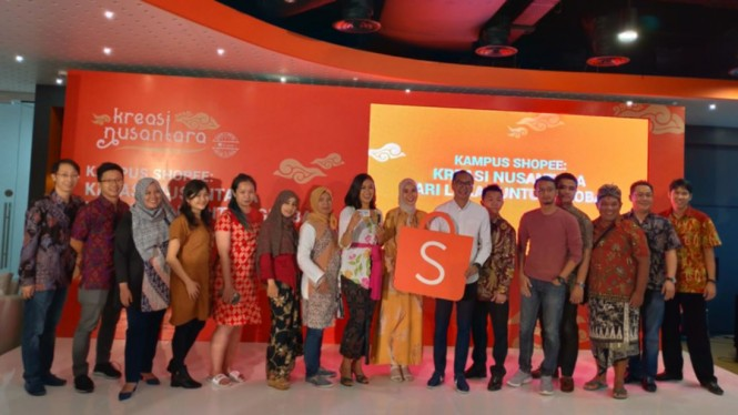 Peluncuran program Kreasi Nusantara Dari Lokal untuk Global oleh Shopee