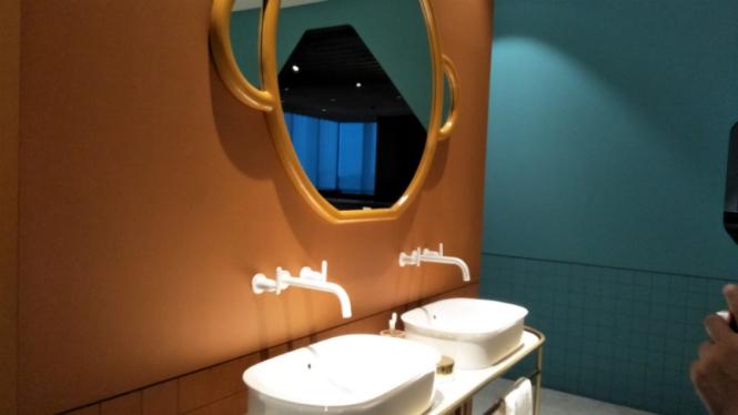 Ilustrasi kamar mandi.