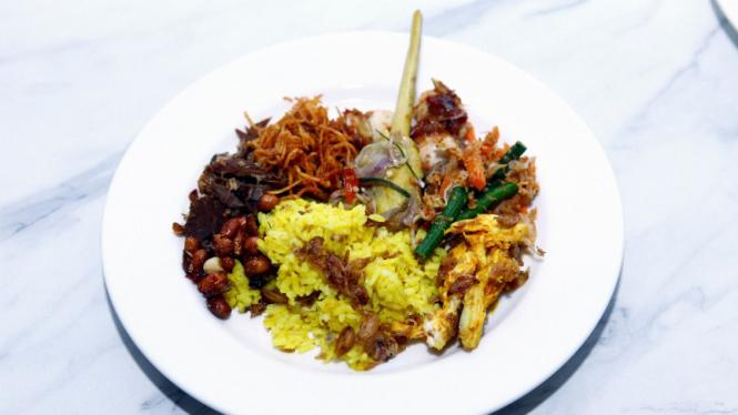 Hidangan di  QUBA Pop-up Restaurant.
