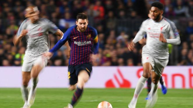 Laga leg I semifinal Liga Champions, Barcelona Gilas Liverpool